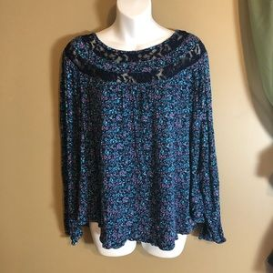 Faded Glory Long Sleeve Top Size Extra Large
